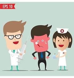 Cartoon Doctor and patient - - EPS10 vector