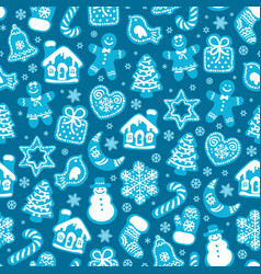 christmas and new year seamless pattern of vector image