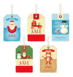Christmas Sale Tags vector