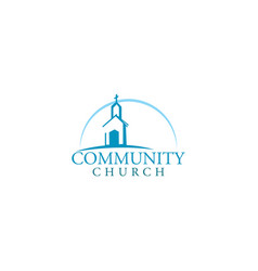 Church building logo design vector