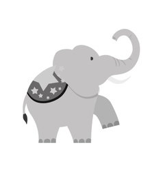 Circus elephant cartoon vector