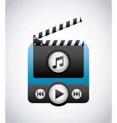 Clapboard and play icon Movie design vector