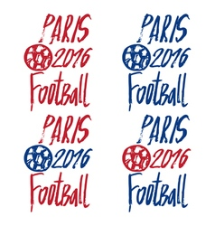Concept logo for the europe football championship vector image
