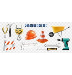 Construction transparent set vector
