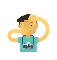 Creative photographer vector image