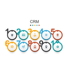 Crm infographic design template customer vector
