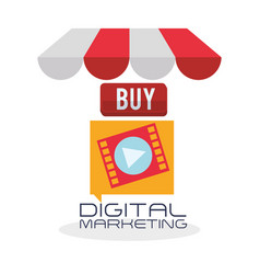 Digital marketing design ecommerce icon isolated vector