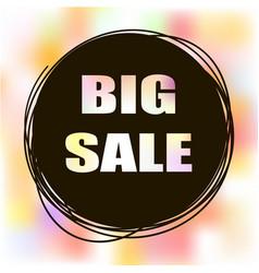 Doodle sale tag big sale banner vector