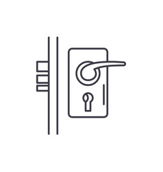 door lock line icon concept door lock vector image