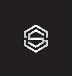 Double letter s logo vector