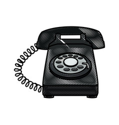 drawing telephone communication device image vector image