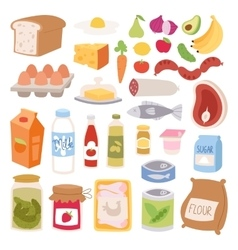 Everyday food vector image