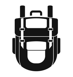 explore backpack icon simple style vector image