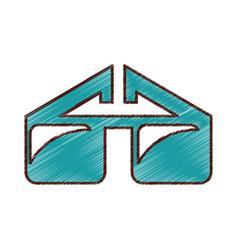 eye glass isolated icon vector image