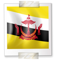 flag of brunei on square paper vector image
