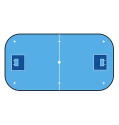 Floorball court color for your tactics sport vector