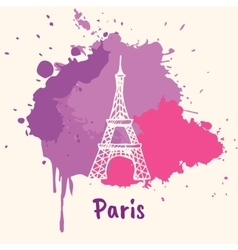 French emotive motive with architecture attraction vector