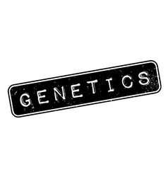 Genetics rubber stamp vector