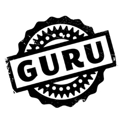 Guru rubber stamp vector