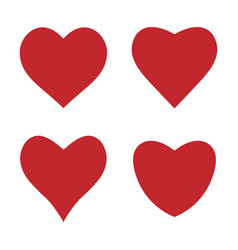 heart icon love symbol set vector image