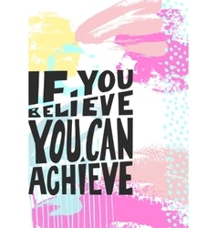 if you believe you can achieve black hand written vector image