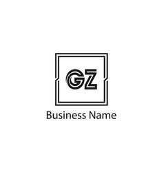 Initial letter gz logo template design vector
