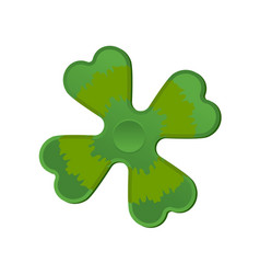 irish spinner clover shamrock hand toy for vector image