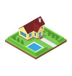 isometric house icon vector image