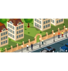 Isometric projection vector image