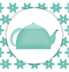 kitchen teapot element icon vector image
