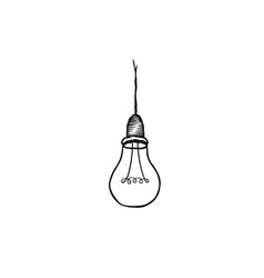 Lamp bulb isolated over white background light vector