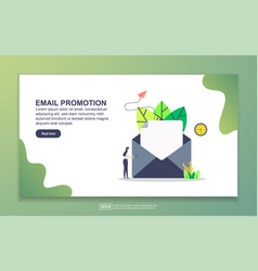 landing page template email promotion modern vector image