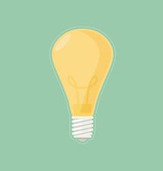 lightbulb isolated icon pictogram eps 10 vector image