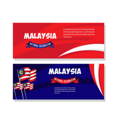 Malaysia national celebration poster template vector