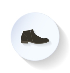 Man Shoes flat icon vector image