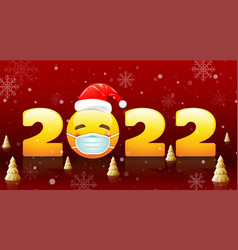Merry christmas and happy new year 2022 new vector