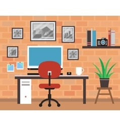 Modern Photographer Room vector image