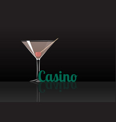 Official cocktail icon the unforgettable casino vector