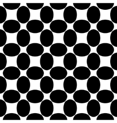 Oval black seamless pattern vector image