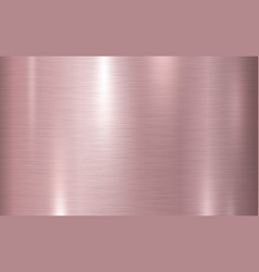 Pink copper metal texture background vector