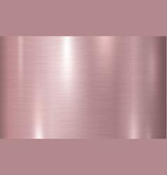 Pink copper metal texture background vector