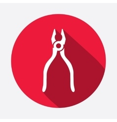 Pliers tongs tool icon Repair fix symbol Round vector