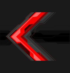 Red grey arrow futuristic on black banner vector