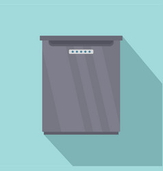 refrigerator icon flat style vector image