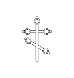 Religion cross icon outline style vector