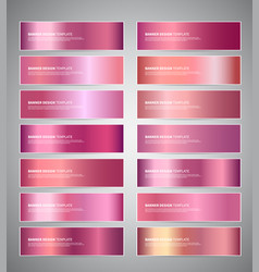 rose gold or shiny pink gradient vector image