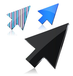 set of 3d pointers vector image