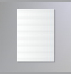 Sheet of lined paper vector image