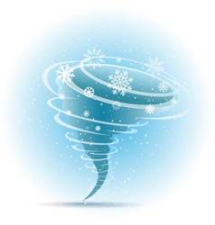 snow tornado icon blue background vector image