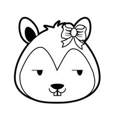 Squirrel flirty cute animal cartoon icon imag vector